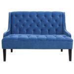 Диван Folket Sofa velour blue  - фото 1