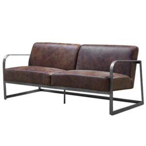 Диван INDIO METAL leather SOFA