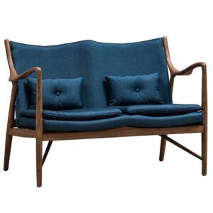Диван Makeshift Loveseat Sofa blue linen