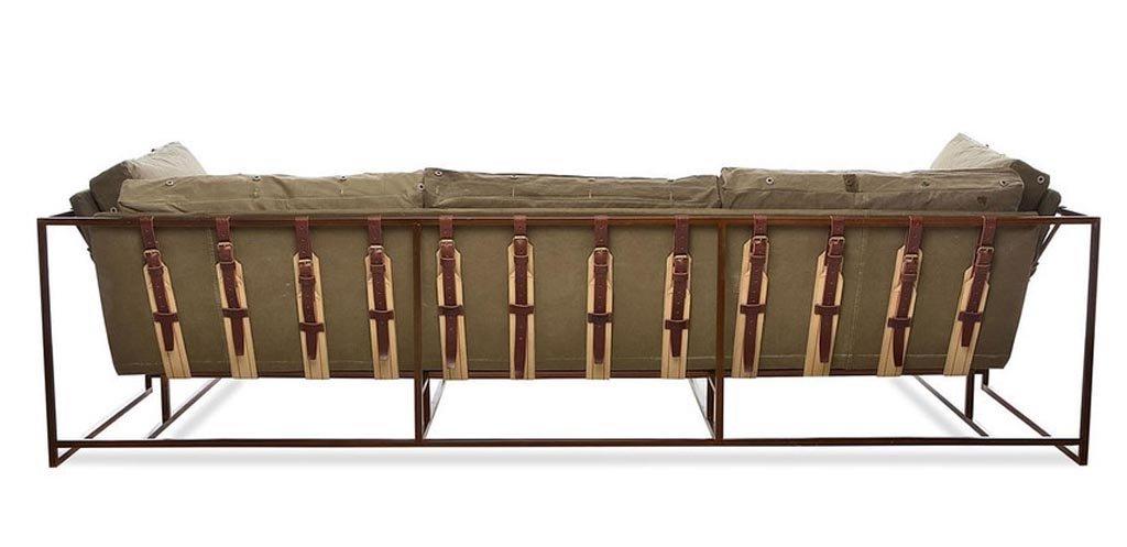 Диван Inheritance Sofa Olive Military Fabric  designed by Stephen Kenn and Simon Miller  - фото 3