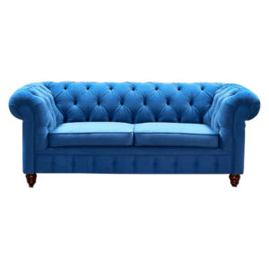 Диван Mini Kensington double blue velor