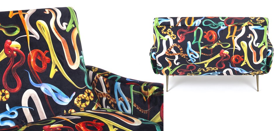 Диван Seletti Sofa Two Seater Snakes  - фото 2