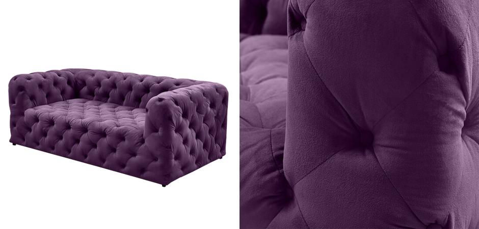 Диван Soho tufted purple velor  - фото 2