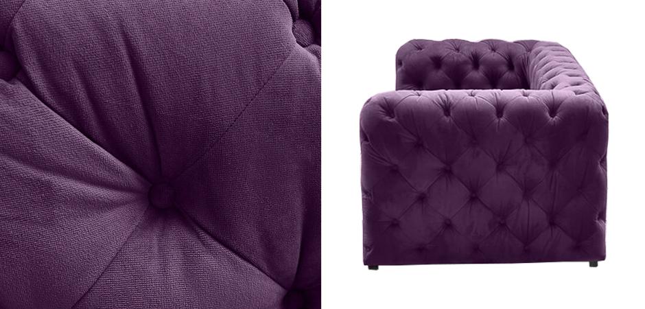 Диван Soho tufted purple velor  - фото 3
