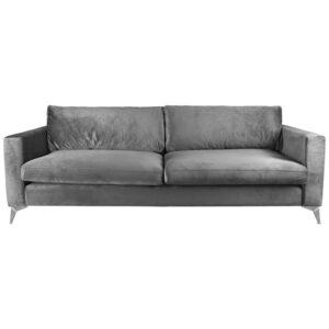 Диван Стокгольм Stockholm Sofa серый велюр