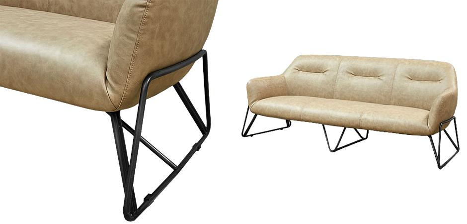 Диван Triangular Legs Triple Sofa  - фото 3