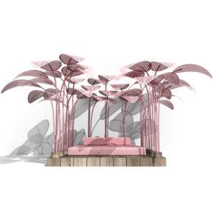 Дизайнерский лежак LE REFUGE MARC ANGE Розовый