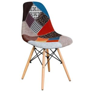 Стул Eames DSW Patchwork  designed by Charles and Ray Eames  in 1948