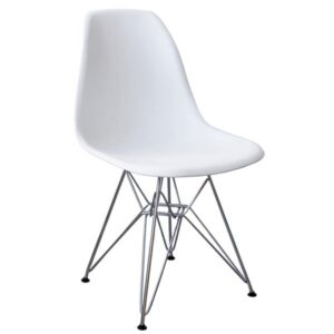 Стул Eames DSR Белый   designed by Charles and Ray Eames  in 1948