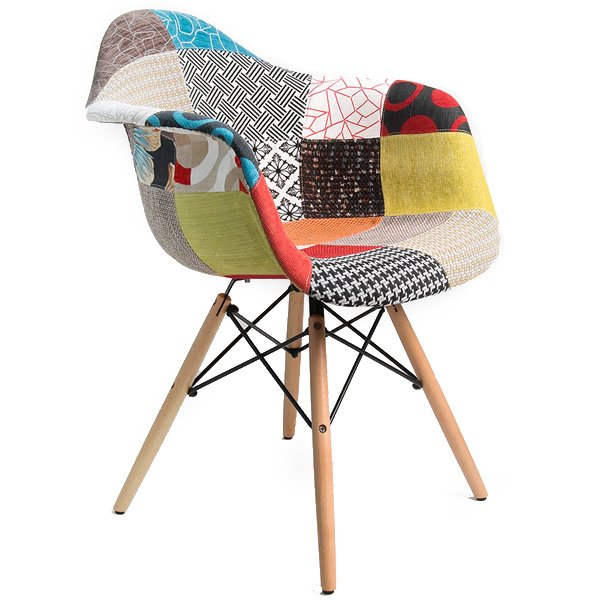 Стул Eames DAW Patchwork   designed by Charles and Ray Eames  - фото 1