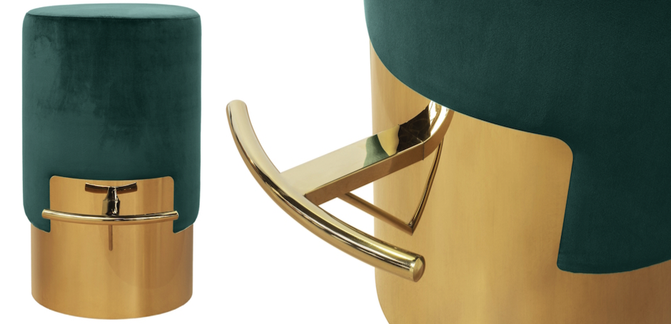 ELLA BAR STOOL Зеленый Барный стул  - фото 2