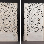 Изголовье-панно Indian antique white Headboard  - фото 2