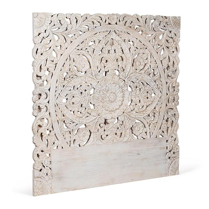Изголовье-панно Indian antique white Headboard  - фото 1