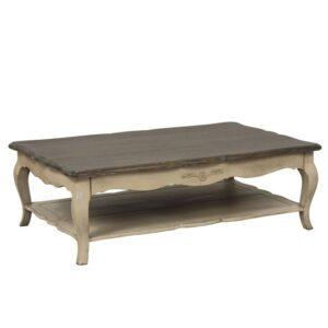 TABLE BASSE RECTANGULAIRE EN PIN AVEC RANGEMENT CHATEAU DT71