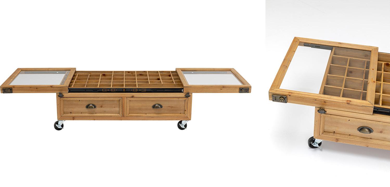 Кофейный стол Wooden Storage Space  - фото 2