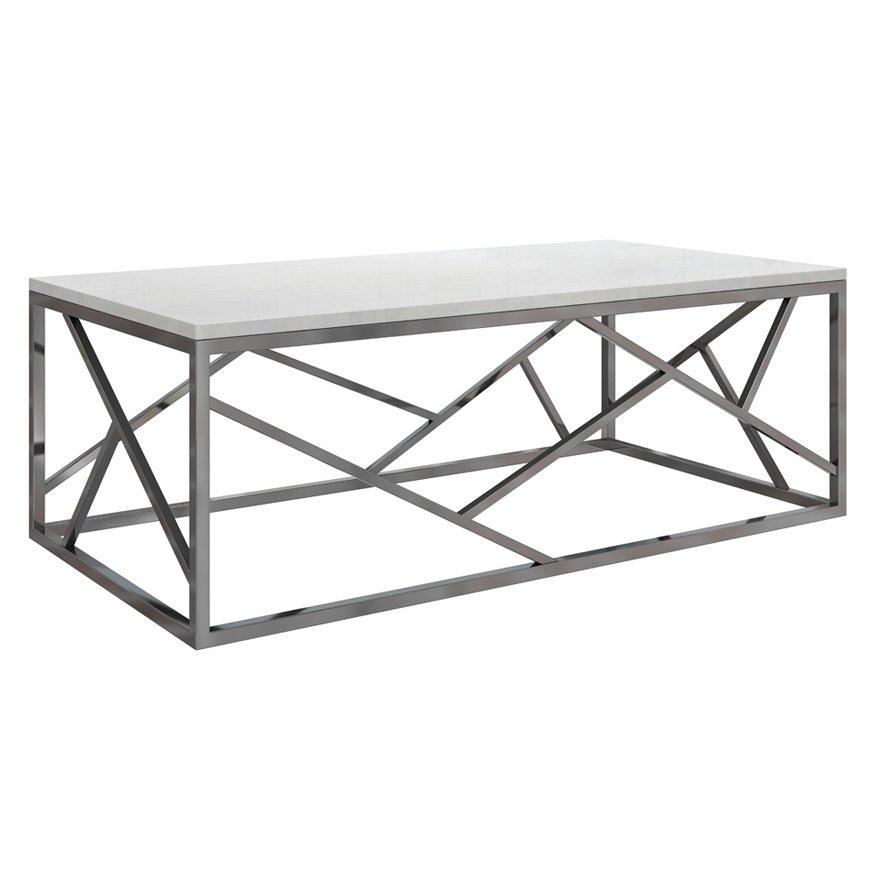 Кофейный стол Serene Furnishing Chrome Marble Top coffee table   - фото 1