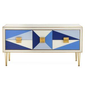 Комод JONATHAN ADLER HARLEQUIN CREDENZA — BLUE  designed by Jonathan Adler