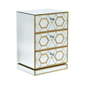 Комод Mirrored Commode 3 drawers