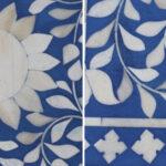 Комод Синий узор отделка кость Bone Inlay Dresser Blue Floral Design Chest of Drawers  - фото 4