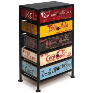 Комод Vintage Loft Print multicolored boxes