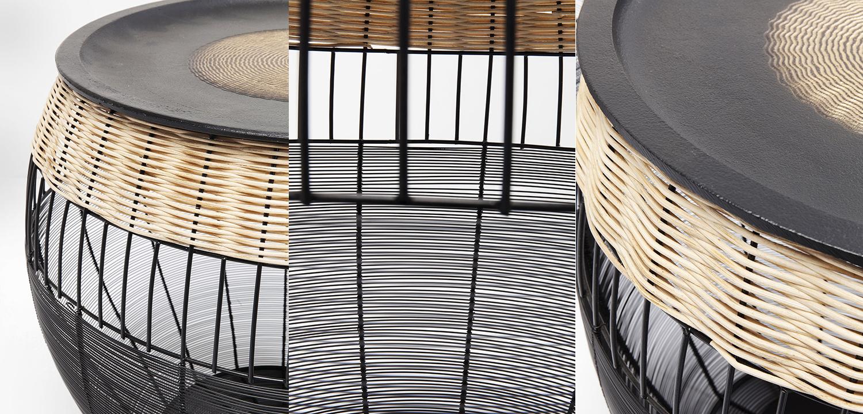 Комплект приставных столов African Wicker Drums  - фото 4