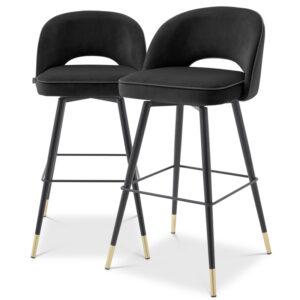 Комплект барных стульев Eichholtz Bar Stool Cliff set of 2 black