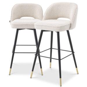 Комплект барных стульев Eichholtz Bar Stool Cliff set of 2 Boucle cream
