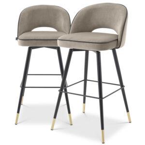 Комплект барных стульев Eichholtz Bar Stool Cliff set of 2 greige
