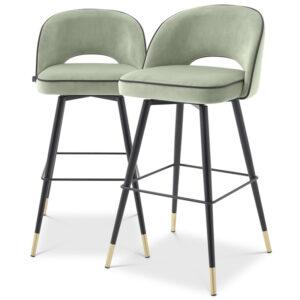 Комплект барных стульев Eichholtz Bar Stool Cliff set of 2 pistache green
