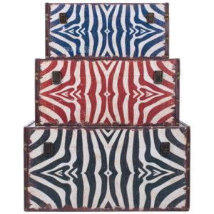Комплект из 3-х сундуков Colored Zebra