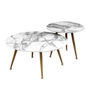 Комплект из двух столов Marble & Brass