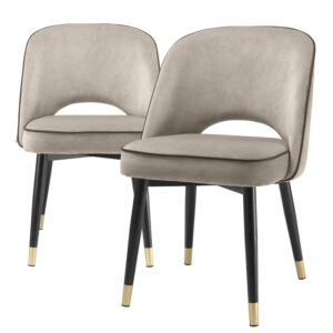 Комплект из двух стульев Eichholtz Dining Chair Cliff set of 2 greige