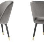 Комплект из двух стульев Eichholtz Dining Chair Cliff set of 2 grey  - фото 2