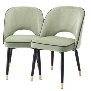 Комплект из двух стульев Eichholtz Dining Chair Cliff set of 2 pistache green