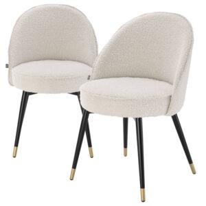 Комплект из двух стульев Eichholtz Dining Chair Cooper set of 2 Boucle cream