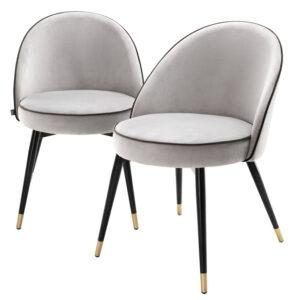 Комплект из двух стульев Eichholtz Dining Chair Cooper set of 2 light grey