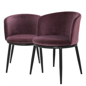 Комплект из двух стульев Eichholtz Dining Chair Filmore Set Of 2 purple