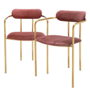 Комплект из двух стульев Eichholtz Dining Chair Singer set of 2 faded rose