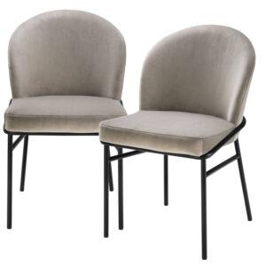 Комплект из двух стульев Eichholtz Dining Chair Willis Set of 2 greige
