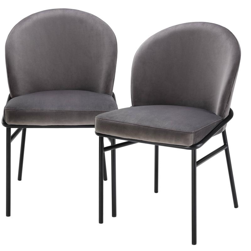 Комплект из двух стульев Eichholtz Dining Chair Willis Set of 2 grey  - фото 1