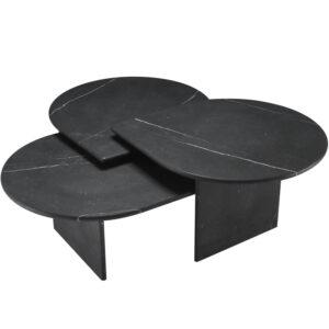 Комплект кофейных столов Eichholtz Coffee Table Naples Set of 3 black