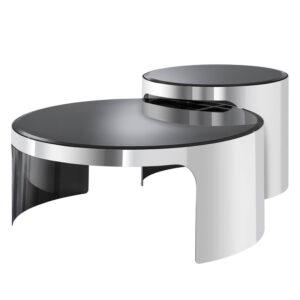 Комплект кофейных столов Eichholtz Coffee Table Piemonte Set of 2 stainless steel
