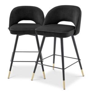 Комплект полубарных стульев Eichholtz Counter Stool Cliff set of 2 black