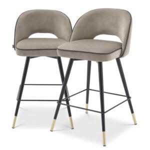 Комплект полубарных стульев Eichholtz Counter Stool Cliff set of 2 greige
