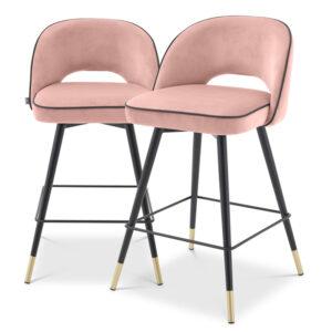Комплект полубарных стульев Eichholtz Counter Stool Cliff set of 2 nude