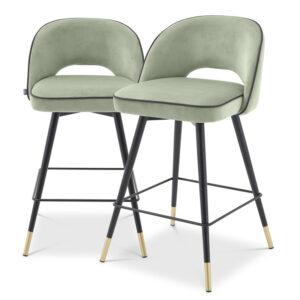 Комплект полубарных стульев Eichholtz Counter Stool Cliff set of 2 pistache green
