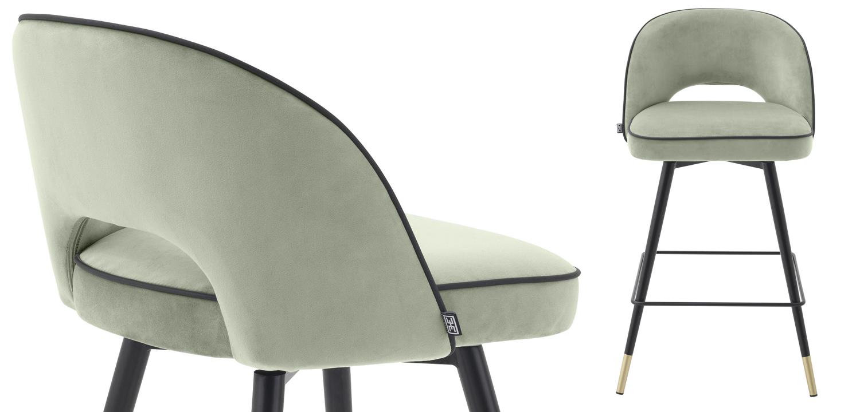 Комплект полубарных стульев Eichholtz Counter Stool Cliff set of 2 pistache green  - фото 2