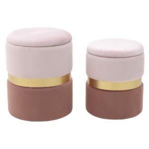Комплект пуфов Golden Belt Soft Pink & Deep Pink