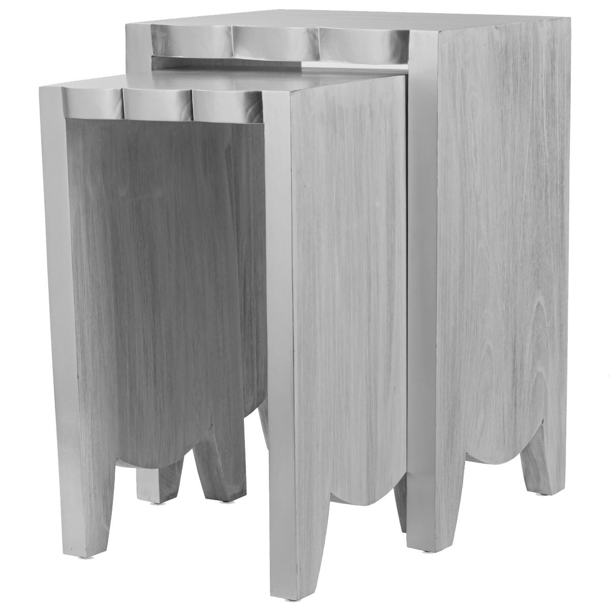 Комплект столиков UTTERMOST IMALA NATURAL ASH NESTING TABLE SET OF 2  - фото 1