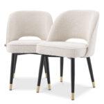 Комплект из двух стульев Eichholtz Dining Chair Cliff set of 2 Boucle cream  - фото 1